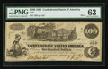 Confederate Notes:1862 Issues, T39 $100 1862 PF-3.. ...