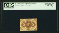 Fr. 1229 5¢ First Issue PCGS Choice About New 55PPQ