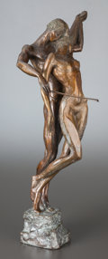 Sculpture, MISHA FRID (Russian, b. 1938). Figural Group. Bronze. 31 inches (78.7 cm) high. Signed and numbered on base: M. Frid 1...