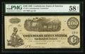 Confederate Notes:1862 Issues, CT-40/298A $100 1862.. ...