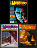 "Movie Posters:Horror, Famous Monsters of Filmland (Central Publications, 1970/2001). Magazines (3) (Multiple Pages, 8.5"" X 11""). Horror.. ... (Total: 3 Items)"