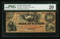 Jacksonville, FL- The Bank of St. Johns $10 May 2, 1859 G4a Benice 7