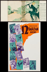 """Tarzan of the Apes & Other Lot (A. L. Burt Company, Mid to Late 1910's). Book Dust Jacket (7.5"""" X 17"""")..."""