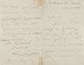 "Autographs:Authors, William Longman. Autograph Letter Signed. Single sheet, 8.75"" x 6.75"". September 16, 1857. Letter regarding a recently recei..."