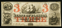 Tallahassee, FL- The State of Florida $3 Mar. 1, 1863 Cr. 17
