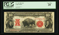 Large Size:Legal Tender Notes, Fr. 122 $10 1901 Legal Tender PCGS Very Fine 20.. ...