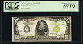 Small Size:Federal Reserve Notes, Low Serial Number L00000040A Fr. 2211-L $1,000 1934 Light Green Seal Federal Reserve Note. PCGS Choice About New 55PPQ.. ...