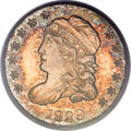 Proof Bust Half Dimes, 1829 H10C PR65 Cameo PCGS. CAC. V-3, LM-2, R.7 as a proof....