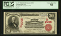 Georgetown, OH - $20 1902 Red Seal Fr. 639 The First NB Ch. # (M)2705