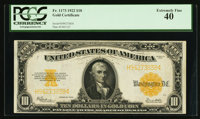 Fr. 1173 $10 1922 Gold Certificate PCGS Extremely Fine 40