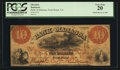 Obsoletes By State:Virginia, Front Royal, VA- The Bank of Manassa $10 Mar. 15, 1859 G4a Jones BF40-10. ...