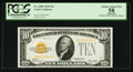 Small Size:Gold Certificates, Fr. 2400 $10 1928 Gold Certificate. PCGS Apparent Choice About New 58.. ...