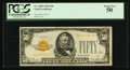 Fr. 2404 $50 1928 Gold Certificate. PCGS About New 50