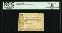North Carolina April 23, 1761 20s PCGS Apparent Extremely Fine 45