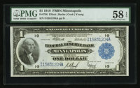 Fr. 736 $1 1918 Federal Reserve Bank Note PMG Choice About Unc 58 EPQ