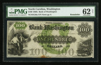 Washington, NC- The Bank of Washington $100 Remainder G26a