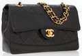 Luxury Accessories:Bags, Chanel Black Quilted Lambskin Leather Small Flap Bag with BlackLeather Pouch. . ...