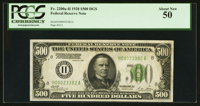 Fr. 2200-H $500 1928 Federal Reserve Note. PCGS About New 50