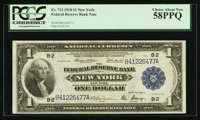 Fr. 712 $1 1918 Federal Reserve Bank Note PCGS Choice About New 58PPQ