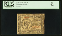 Continental Currency February 26, 1777 $8 PCGS New 62