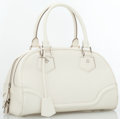 Luxury Accessories:Accessories, Louis Vuitton White Epi Leather Bowling Montaigne Bag. ...