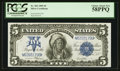 Large Size:Silver Certificates, Fr. 281 $5 1899 Silver Certificate PCGS Choice About New 58PPQ.. ...