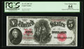 Large Size:Legal Tender Notes, Fr. 87 $5 1907 Legal Tender PCGS Apparent Very Choice New 64.. ...