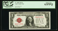 Small Size:Legal Tender Notes, Low Serial Number A00001295A Fr. 1500 $1 1928 Legal Tender Note. PCGS Choice New 63PPQ.. ...