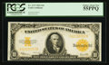 Large Size:Gold Certificates, Fr. 1173 $10 1922 Gold Certificate PCGS Choice About New 55PPQ.. ...