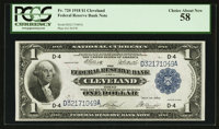 Fr. 720 $1 1918 Federal Reserve Bank Note PCGS Choice About New 58