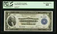 Fr. 718 $1 1918 Federal Reserve Bank Note PCGS Very Choice New 64
