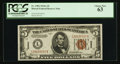 Small Size:World War II Emergency Notes, Fr. 2302 $5 1934A Hawaii Federal Reserve Note. PCGS Choice New 63.. ...