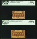 Fr. 1279 and Fr. 1280 25¢ First Issue Notes PCGS About New 50PPQ and 53PPQ
