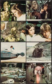 "Star Wars (20th Century Fox, 1977). Deluxe Mini Lobby Card Set of 8 (8"" X 10""). Science Fiction. ... (Total: 8..."