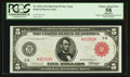 Fr. 833a $5 1914 Red Seal Federal Reserve Note PCGS Apparent Choice About New 58