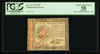 Continental Currency January 14, 1779 $55 PCGS Apparent Choice About New 58