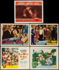 "Movie Posters:Adventure, Fair Wind to Java & Others Lot (Republic, 1953). Title LobbyCard and Lobby Cards (4) (11"" X 14""). Adventure.. ... (Total: 5Items)"