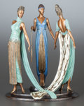 Bronze:European, A PATINATED BRONZE FIGURAL GROUP, BY ERTÉ: THE THREE GRACES.Circa 1987. Marks: ERTÉ, 367/375, FINE ART ACQUISITIO...