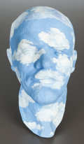 Ceramics & Porcelain, Russian, A LEONID SOKOV PAINTED PLASTER BUST: LENIN-MAGRITTE. 20thcentury. Marks: SOKOV, 1995. 15 x 8-1/2 x 9-1/2 inches...