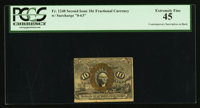 Fr. 1248 10¢ Second Issue With Contemporary Inscription PCGS Extremely Fine 45