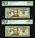 Small Size:Federal Reserve Notes, Fr. 2089-E $20 2004 Federal Reserve Note. PCGS Gem New 65PPQ.. Fr.2089-E* $20 2004 Federal Reserve Notes (3). PCGS Superb... (Total:4 notes)