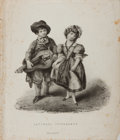 Books:Natural History Books & Prints, [Lithograph]. Savoyard Itinerants. Printed by Graf and Soret, ca. early 19th century. Measures approximately 10....
