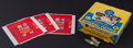 Baseball Cards:Unopened Packs/Display Boxes, 1960 Leaf Baseball 2nd Series Wax Box, Wrappers and Marbles. ...