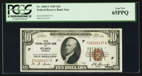 Fr. 1860-F $10 1929 Federal Reserve Bank Note. PCGS Gem New 65PPQ
