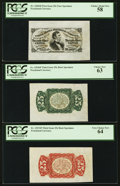 Fr. 1291/4SP 25¢ Third Issue Wide Margin Set of Three