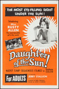 "Movie Posters:Sexploitation, Daughter of the Sun (Lucky Pierre Enterprises, 1962). One Sheet(27"" X 41""). Sexploitation.. ..."