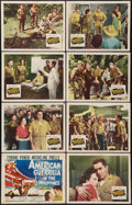 "Movie Posters:War, American Guerrilla in the Philippines (20th Century Fox, 1950).Lobby Card Set of 8 (11"" X 14""). War.. ... (Total: 8 Items)"