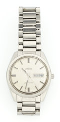 Timepieces:Pocket (post 1900), Omega Steel Automatic Wristwatch. ...