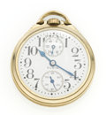 Timepieces:Pocket (post 1900), Elgin 21 Jewel Father Time With Wind Indicator Pocket Watch. ...