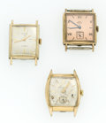 Timepieces:Wristwatch, Three Vintage Manual Wind Wristwatches. ... (Total: 3 Items)